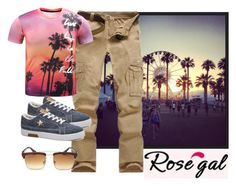 """rosegal t-shirt"" by katarinaf ❤ liked on Polyvore featuring Alba Botanica, men's fashion, menswear and rosegal"