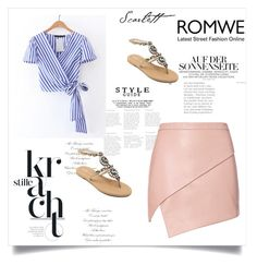 """""""Romwe"""" by selma123-1 ❤ liked on Polyvore featuring Michelle Mason"""
