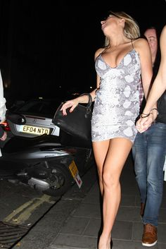 At arriving brithday upskirt simpsons bianca gascoigne party ashlee