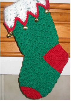 Bells and Shells Stocking Free Crochet Pattern:  This one is pretty cute.  I'm usually not a fan of the crocheted free stocking patterns, but this one is pretty nifty!