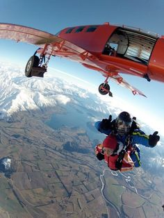 This is what we did today!  Skydive in Wanaka.