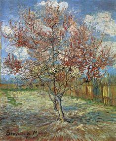 Vincent Van Gogh - Pink Peach Trees ('Souvenir de Mauve'). March 1888 #arte