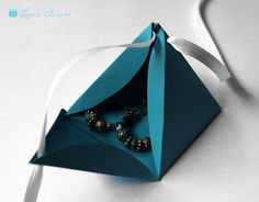 DIY~ How to make a paper pyramid gift box- for candy, jewelry, money, etc.
