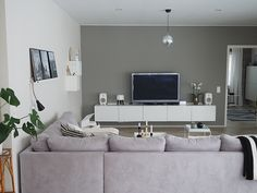 Livingroom (syhina.blogspot.fi) Flat Screen, Living Room, Lofts, Decor Ideas, Home Decor, Living Room Ideas, House, Blood Plasma, Loft Room