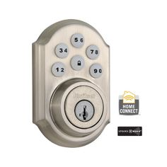 Satin Nickel Traditional Smartcode Deadbolt with Z-Wave Technology