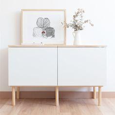 Mueble Auxiliar Módulo Fitxa Blanco