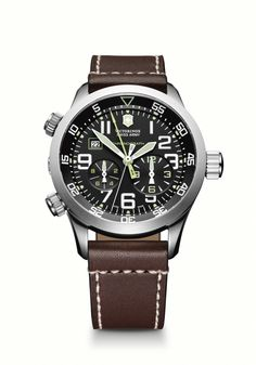 Airboss Mach 7 Chrono, the most popular Swiss Army watch Gents Watches, Watches For Men, Wrist Watches, Mens Designer Watches, Swiss Army Watches, Victorinox Swiss Army, Fashion Watches, Guy Stuff, Accessories