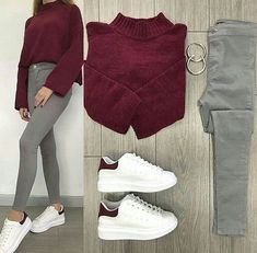 Sneakers outfit swag style new ideas Casual Work Outfits, Mode Outfits, Simple Outfits, Trendy Outfits, Winter Fashion Outfits, Spring Outfits, Study Outfit, Mode Grunge, Fashion Mode