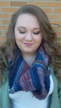 Blue Hues Gradient Cowl by TooLegitToKnitCrafts on Etsy