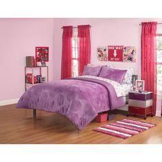 Your Zone Mink Mum Bedding Comforter Set Purple Stardust
