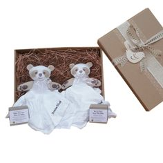 #organic Twins baby gift Two Little Pandas in a box.