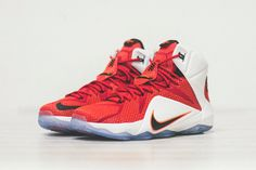 uk availability cce46 f0613  Nike LeBron 12 University-Red White Black  sneakers Best Sneakers,