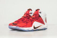 #Nike LeBron 12 University-Red/White/Black #sneakers