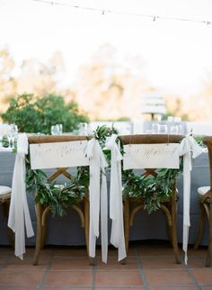 Ribbon and garland: http://www.stylemepretty.com/2015/02/12/romantic-ivory-grey-ojai-valley-inn-wedding/ | Photography: Diana McGregor - http://www.dianamcgregor.com/