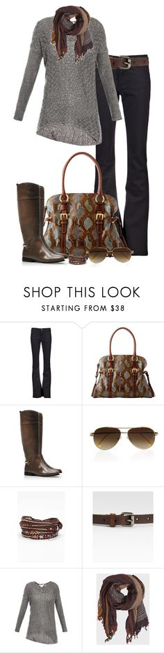 """""""Untitled #279"""" by partywithgatsby ❤ liked on Polyvore featuring CourtShop, Dooney & Bourke, Tory Burch, Cutler and Gross, Chan Luu, Weekend Max Mara, Helmut Lang, Object Collectors Item, aviator sunglasses and embellished wrap bracelets"""