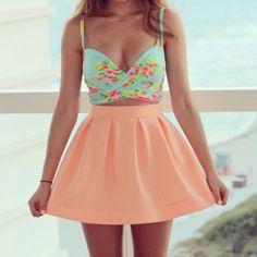 Spring dress  #summer,  girl  #flower print