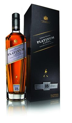 Introduced to the US in August of Johnnie Walker Platinum, an blended Scotch whisky, is crafted from single malt and grain whiskies. Whiskey Or Whisky, Whiskey Drinks, Scotch Whiskey, Whiskey Bottle, Johnnie Walker Whisky, Booze Drink, Alcoholic Drinks, Cocktails, Malbec