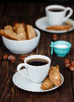 Coffee biscotti with nuts