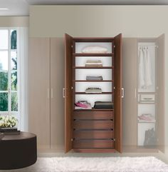 Bella Wardrobe Armoire - Modern Bedroom Storage with sleek interior drawers Bedroom Storage, Storage Shelves, Tall Cabinet Storage, Modern Wardrobe, Wardrobe Design, Contemporary Bedroom, Modern Bedroom, Free Standing Wardrobe, Armoire Design