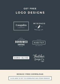 How to name your business and blog tips. Plus a free, editable logo design template. Repin for to create your dreamy branding logo later.