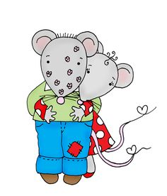 Free Dearie Dolls Digi Stamps: Valentine Mousies