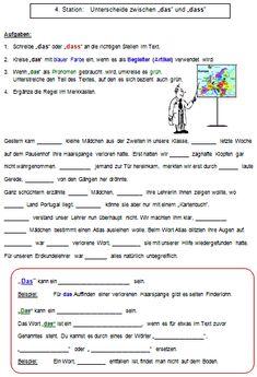 Wörter mit s, ss oder ß | немецкий язык | Pinterest | Schule ...
