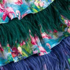 Aristocrat Kids - Silk Flamingo & Feather Dress   Childrensalon