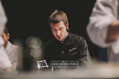 """Iñaki Andradas. Del bar 7 del Siete, en la calle Zapatería, 53 de Pamplona  (T. 948 211601). Participó en el Campeonato de Euskal Herria de Pintxos con """"Panal de trufa polinizado"""". Cómprate un libro de campeonato con todas las recetas y fotos: http://www.campeonatodepintxos.com/tienda/ #Hondarribia #Pintxos #Pinchos #Tapas #Fuenterrabía #Fontarrabie @hondarribiaturi  @euskadipintxos"""