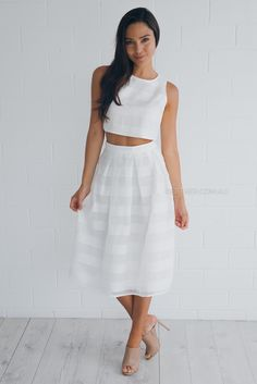 ida two piece set - ivory