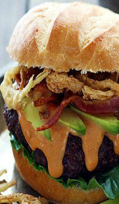 Porcini-Gorgonzola Burgers with Veal Demi-Glacé | Burgers | Pinterest ...