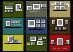 Filling a big blank wall - shelving w/ framed photos