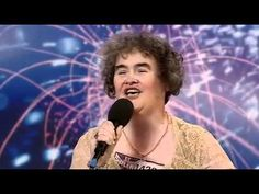 Britain's Got Talent - Susan Boyle First Audition.  No matter how many times I see it, she makes me smile, cry and really feel good, what a beautiful voice!
