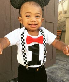 Race Car Birthday Shirt - Racecar First Birthay Bow Tie and Suspender Outfit - Racecar Checker Suspenders - Racecar Theme Birthday Party - Mickey Mouse Birthday Outfit