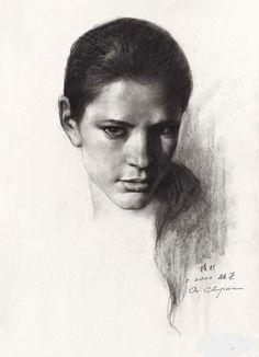 Charcoal Portraits that Capture Lives Lived. By Ou Chujian.