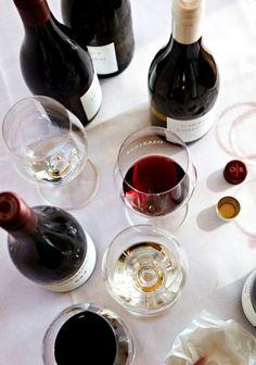 Wine, overhead.