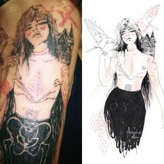 sketch>tattoo art