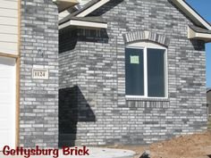 Steel Manor Brick In 2019 Stone Exterior Houses Masonry