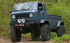 Jeep cab over 4x4 pickup ......... This vehicle has a bit of everything