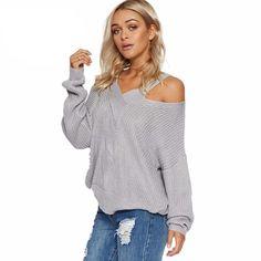 Cold Shoulder Knit Pullover
