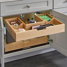 rev a shelf kitchen drawers Kitchen Organization, Kitchen Storage, Under Sink Organization Bathroom, Organizing, Storage Organization, Modern Kitchen Drawer Organizers, Bathroom Cabinet Storage, Storage Ideas, Diy Kitchen