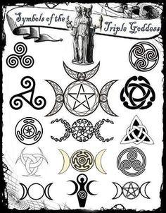 Símbolos de la Triple Diosa.