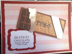 Death By Chocolate Handmade Dimensional Card by PiecedPaperLove on Etsy