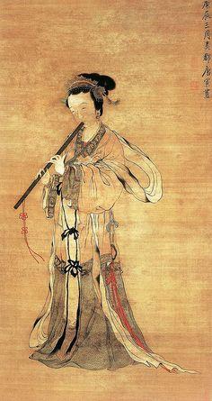 明 唐寅 吹箫图 by China Online Museum - Chinese Art Galleries, via Flickr