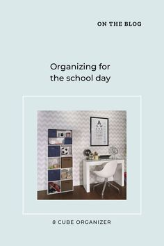 Make everyone's life easier this school year with our organization tips, whether your students are learning in-person or online. #BacktoSchool #HomeOrganization #HomeworkStation Back To School Organization, Organization Hacks, 8 Cube Organizer, Homework Station, Kids Storage, School Days, Getting Organized, Learning, Students