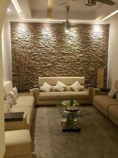 Last Trending Get all images room interior wall design Viral d d abfe d d a e Living Room Interior, Home Living Room, Stone Wall Living Room, Tiles For Living Room, Living Room Decor India, Kitchen Stone Wall, Living Room Designs India, Bedroom Designs India, Living Room Wall Designs