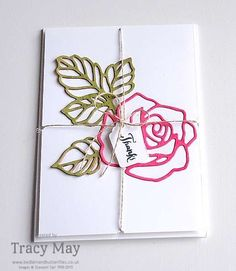 Stampin' Up! Rose Garden Thinlits Thank You Cards Tracy May UK Demonstrator