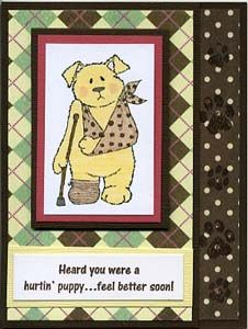 Hurtin' Puppy Card & DIY Directions from GreatImpressionsStamps.com