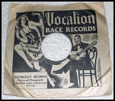CollectorsFrenzy - 78 RPM SLEEVE VOCALION RACE RECORDS 1000 SERIES JAZZ