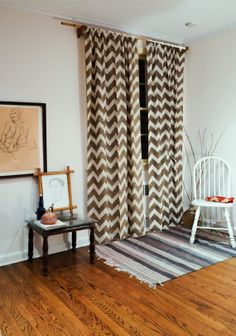 Chevron  44 x 108  Taupe Block Printed Naturally Dyed by Ichcha, $59.00