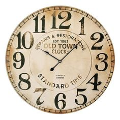 Rodworks - Old Town Clock - Rodworks #rodworks #homedecor #neutrals